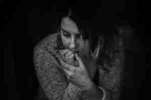 female looking concerned Photo by Kat Jayne from Pexels