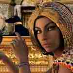 young Egyptian female tomb background from Pixabay
