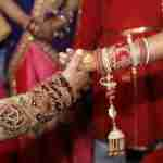 wedding couple in traditional Indian garments Ancient India Beauty Chakra